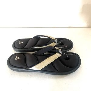 ADIDAS FITFOAM glitter sandals size 5